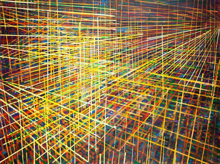 Małgorzata Kosiec, Passage, 2014, akryl, płótno, 200x150 cm.