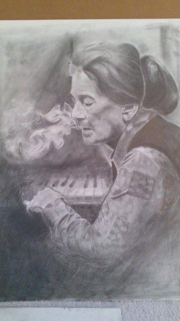 Annie Fischer-pencil drawing-portrait