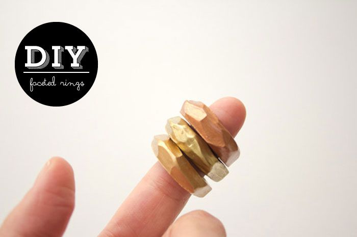 Poppytalk: DIY Faceted Clay Rings