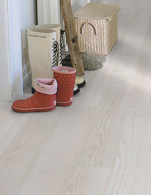 #Laminatgolv #Pergo #Original Excellence Plank, Vit Ask, 1-stav