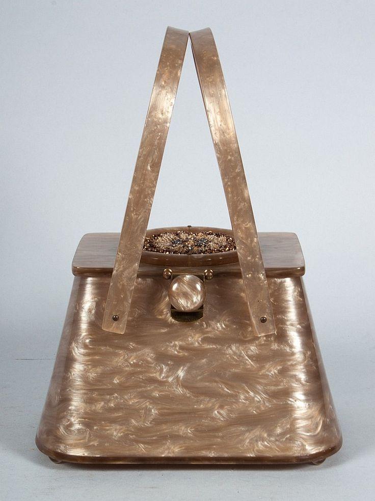 """Vintage """"mother of pearl"""" Bakelite purse"""