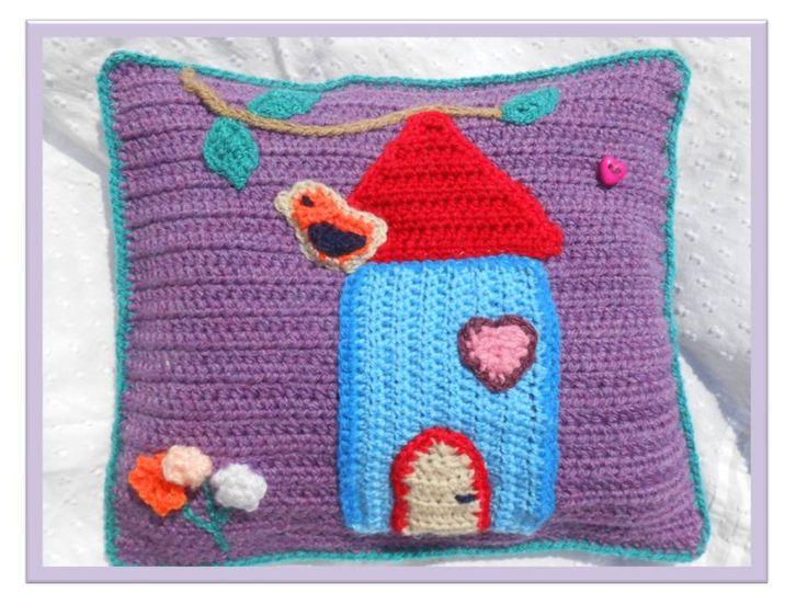 coussin d coration chambre b b crochet main et rembourr avec des fibres polyester sp ciales. Black Bedroom Furniture Sets. Home Design Ideas