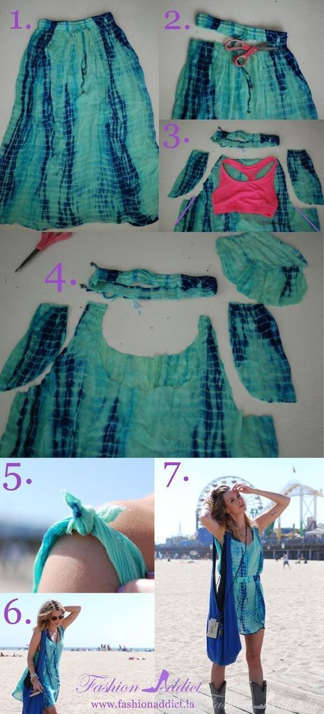 DIY no sew dress perfect for the beach, ...