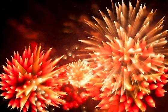 vuurwerk dat lijkt op een bloem
