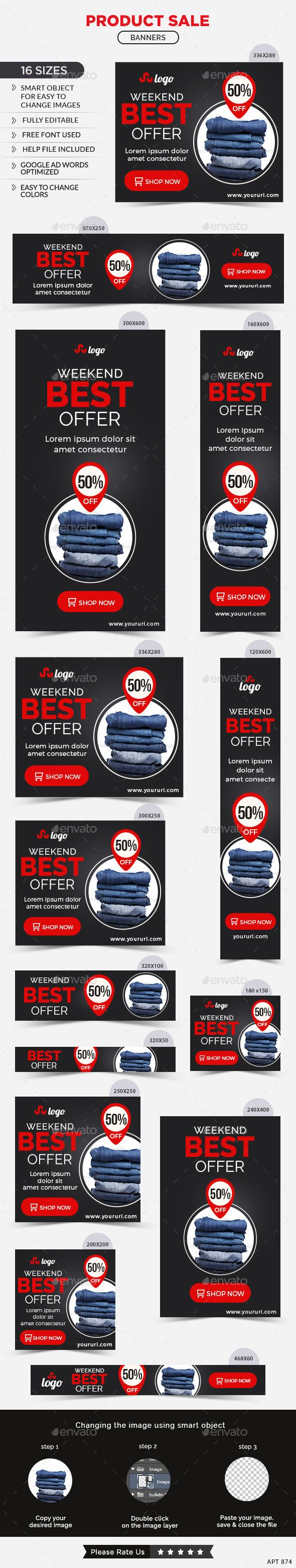 Product Sale Web Banners Template #design #ads Download: http://graphicriver.net/item/product-sale-banners/12802298?ref=ksioks