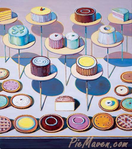 This is actually located in Kansas City! Wayne Thiebaud is a delicious painter, he draws you in with the happy subject matter and keeps you engaged with his use of texture and details through color theory. Go check it out at the Kemper Museum of Contemporary Art!!
