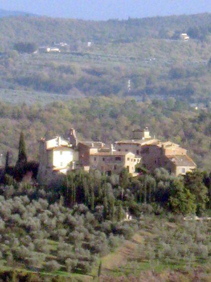 Veduta della valle e del Castello di Tignano da Barberino Val d'Elsa