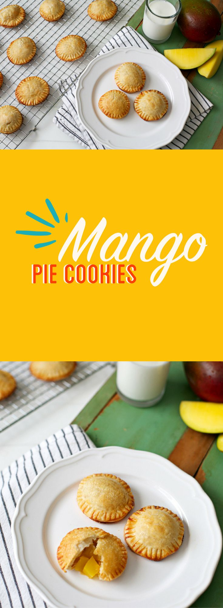 We celebrated National Pie Day with our favorite Mango Pie Cookies!