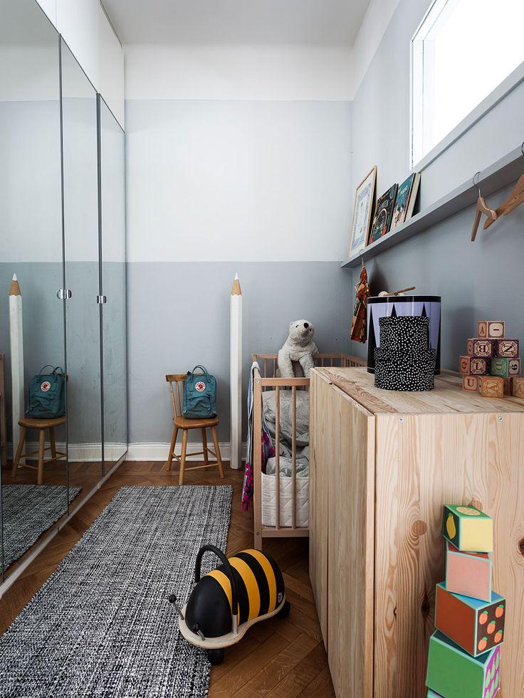 muurdecoraties babykamer lambrisering Ideeën voor