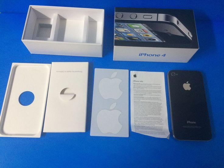 iPhone 4 with box apple stickers parts or repair cracked screen Virgin Mobile #Apple #Smartphone
