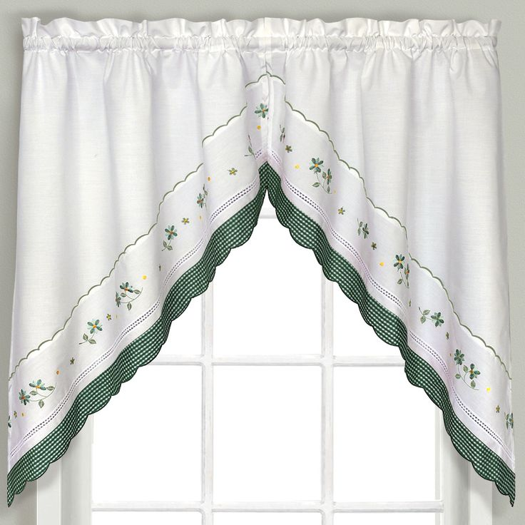 Gingham Swag Curtain Valance