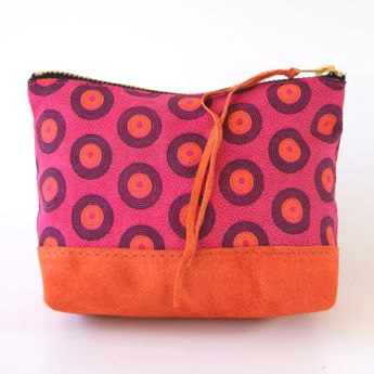 Orange & Pink Shweshwe Boxed Pouch