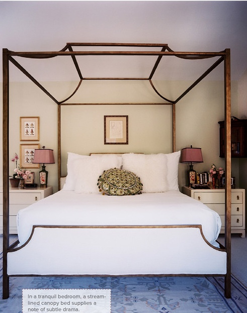 Bedroom Photo - A canopy bed with white linens