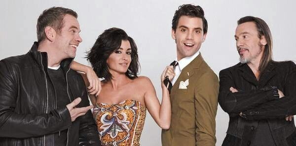 Mika and the other judges from The Voice France