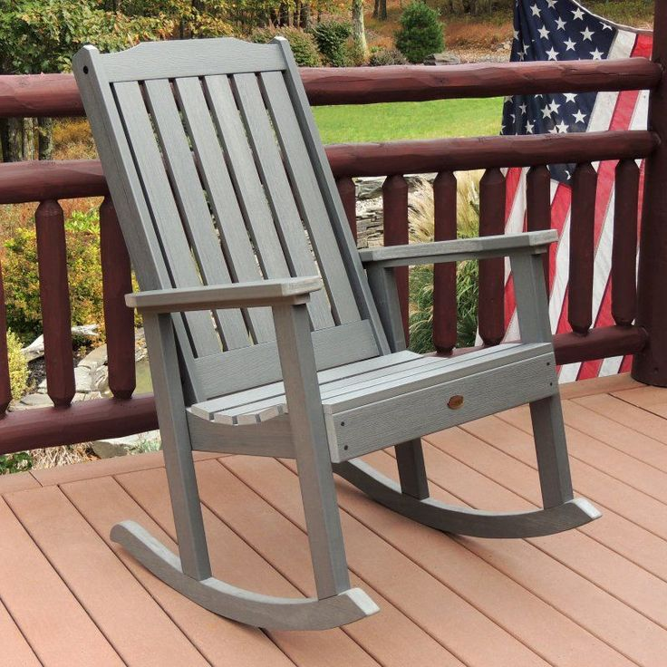 Outdoor highwood Lehigh Recycled Plastic Rocking Chair - AD-RKCH1-CGE