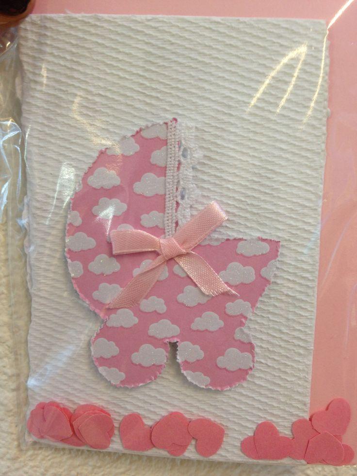 geboortekaart #leerlingen #papierscheppen #meisje #roze #kaart