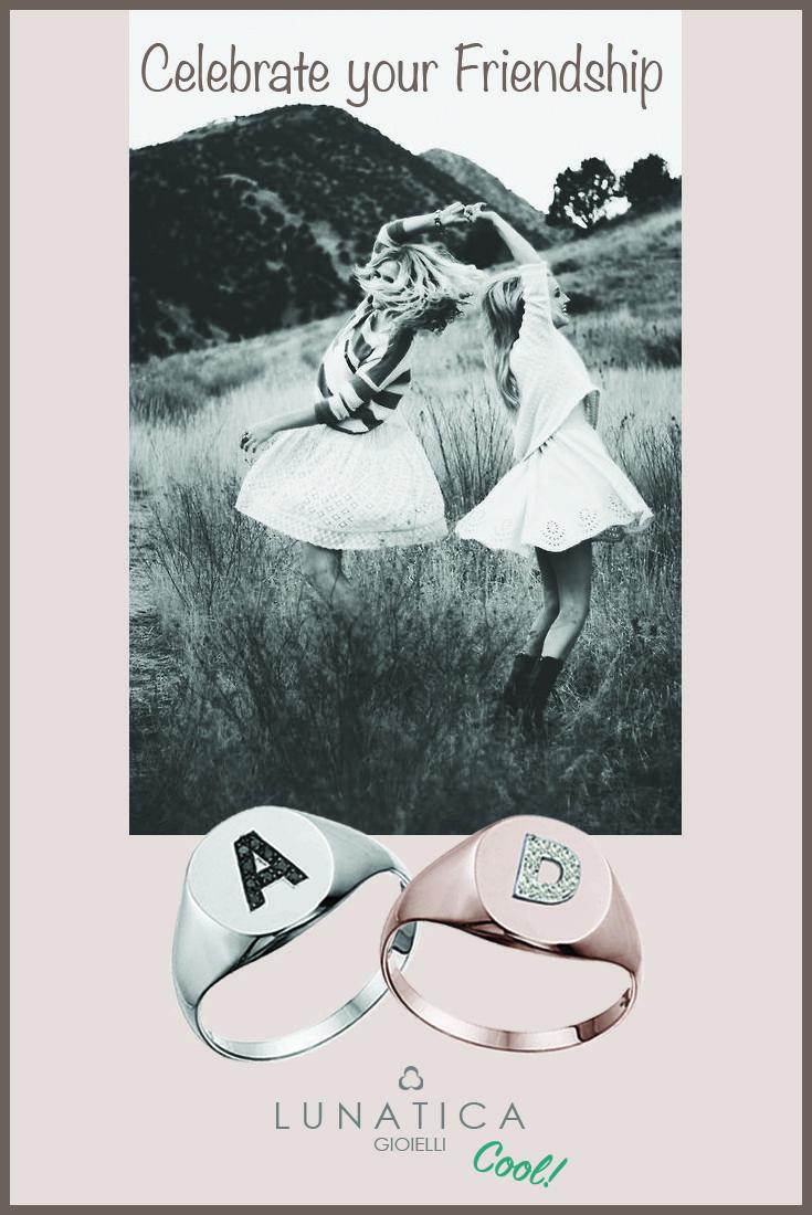 #lunatica #lunaticagioielli #lunaticacool #gioielli #anelli #sigilli #signetrings #celebrate #love #life #friendship #handmade #madeinitaly #young #fresh #glam #personalize #girls #diamonds #white #pink #gold #18kt #precious