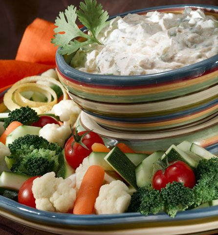 """Created by: @fvmorematters: Your eyes aren't deceiving you: you are seeing the words """"healthy"""" and """"creamy Mexican"""" in the same recipe title! That's because strained low-fat plain yogurt gives this dip its decadent thickness, rather than cheese or sour cream. Kroger Staff Dietitian Allison Kuhn points out that not only is this recipe delicious and low-fat, but it's also rich in vitamins A and C, as well as calcium, potassium and fiber."""