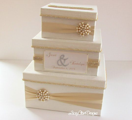 Wedding Card Box Bling Card Box Rhinestone by LaceyClaireDesigns, $183.00