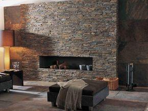 Steinwand Im Wohnzimmer Rustikal Modern BRICK NEPAL Lantic Colonial Porcelanosa