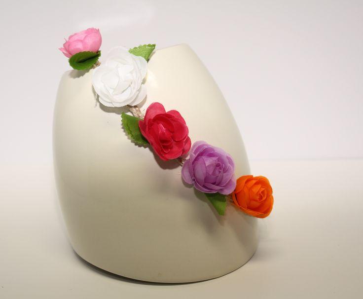 Multi-Coloured Floral Head Piece