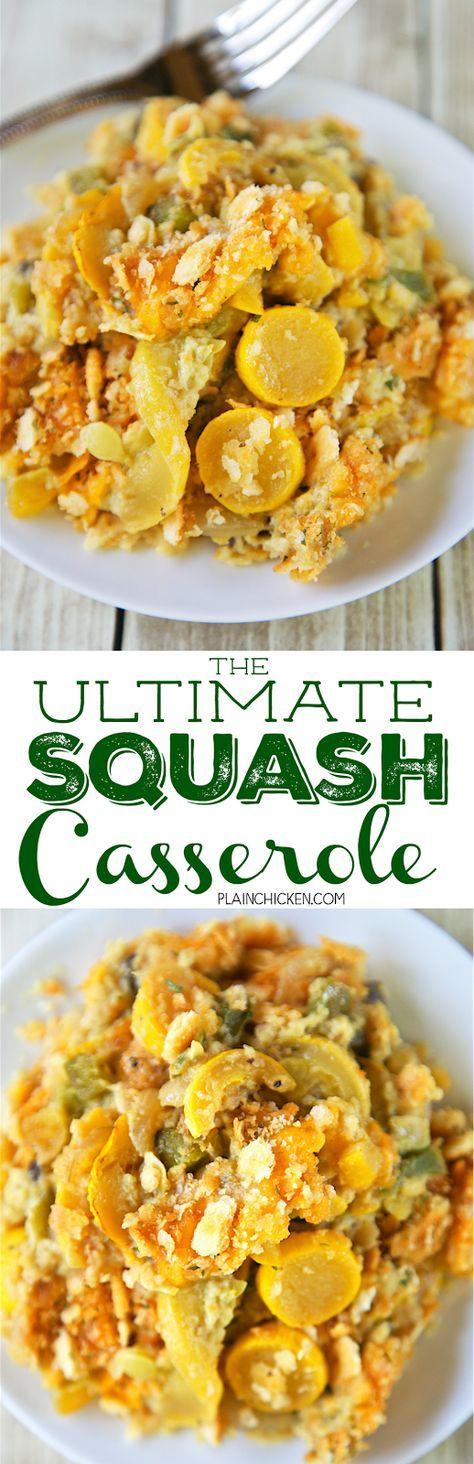 The Ultimate Squash Casserole – squash, bell peppe…