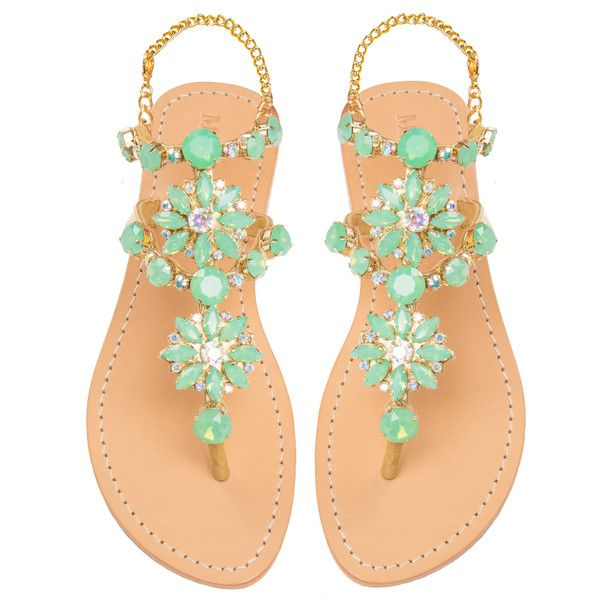 Mystique Sandals features unique hand crafted leather women's sandals that  are embellished with jewelry Mais