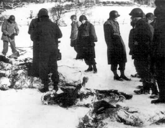 la bataille des Ardennes après le Massacre de Malmedy.