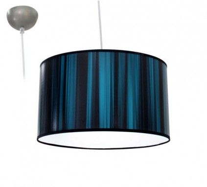BIOLEDEX Aniso Pendelleuchte Satin Design türkis E27