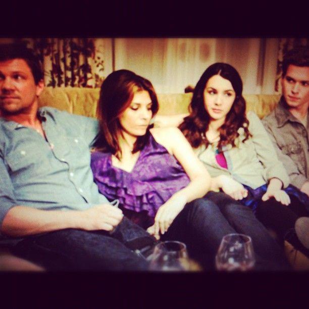 One big happy family - Matt (Marc Blucas), Dani (Callie Thorne), Lindsay (Hannah Marks) and Ray Jay (Patrick Johnson). Image via hannahgmarks.