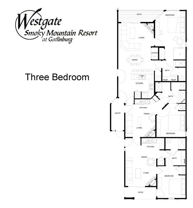 Westgate Smoky Mountain Resort Floor Plans