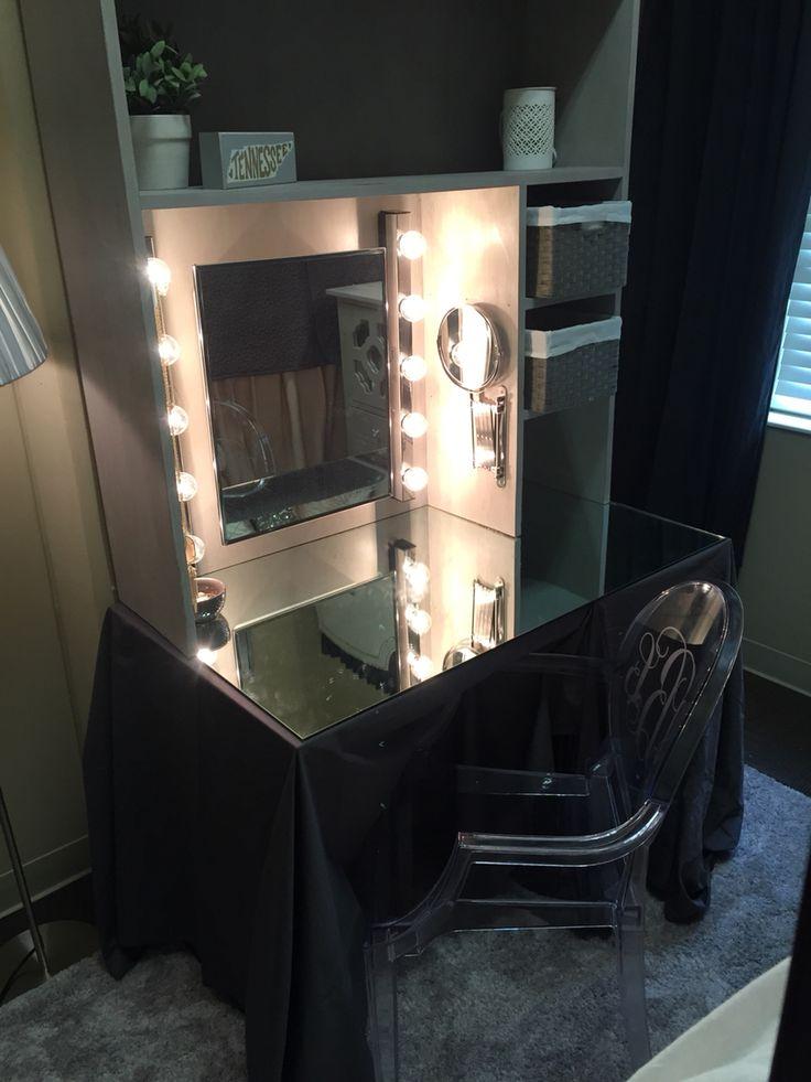 Ashley Beckler Dorm room vanity - presidential village at UA