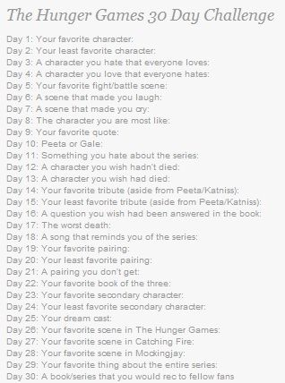 Day 1. Favorite character: my favorite character is probable Johanna! Comment