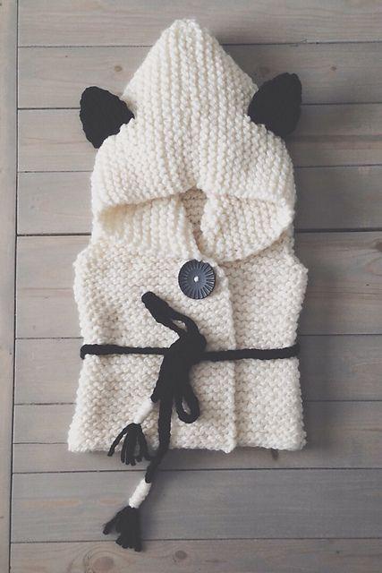 Ravelry: Sheep or bear vest Sheridan pattern by Muki Crafts