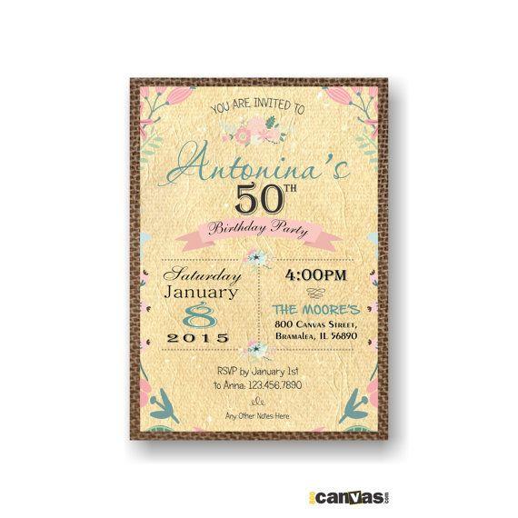 50th birthday email invitations