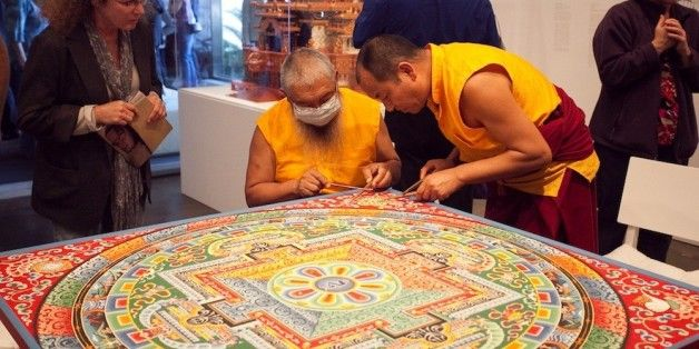 Tibetan Monks Create Wildly Intricate Sand Painting In Meditative Masterpiece