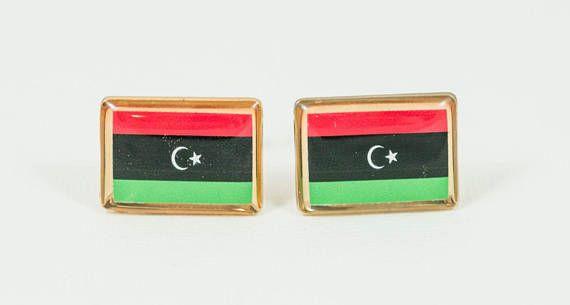 Libyan Flag Cufflinks