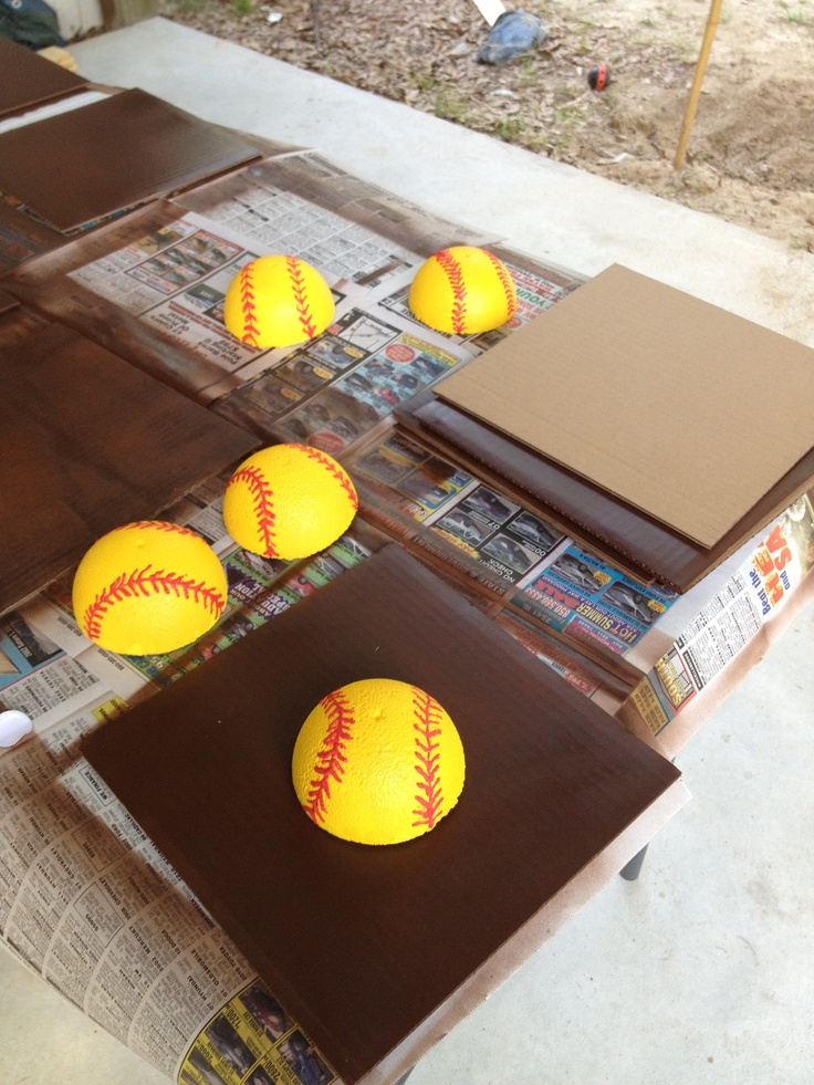 Images about making centerpieces for softball