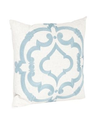 54% OFF Saro Lifestyle Sea Green Embroidered Design Pillow