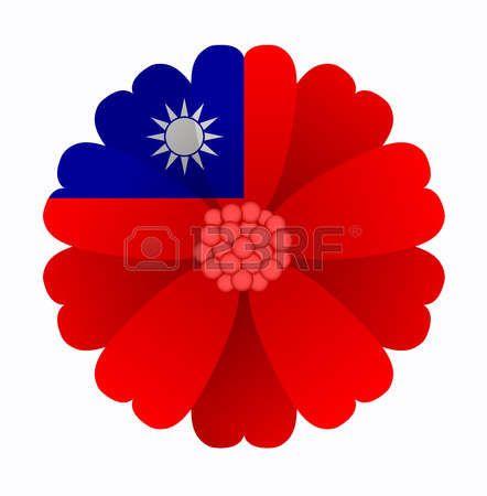 illustration of flower Flag Taiwan photo