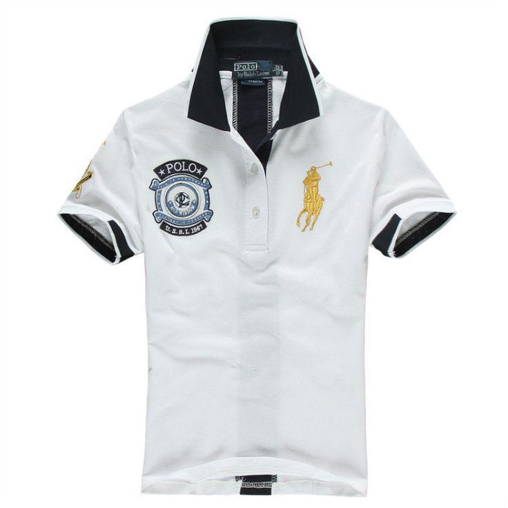 Ralph Lauren Men\u0026#39;s US 1967 Short Sleeve Polo Shirt White http://www.
