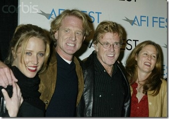 Robert Redford with his children