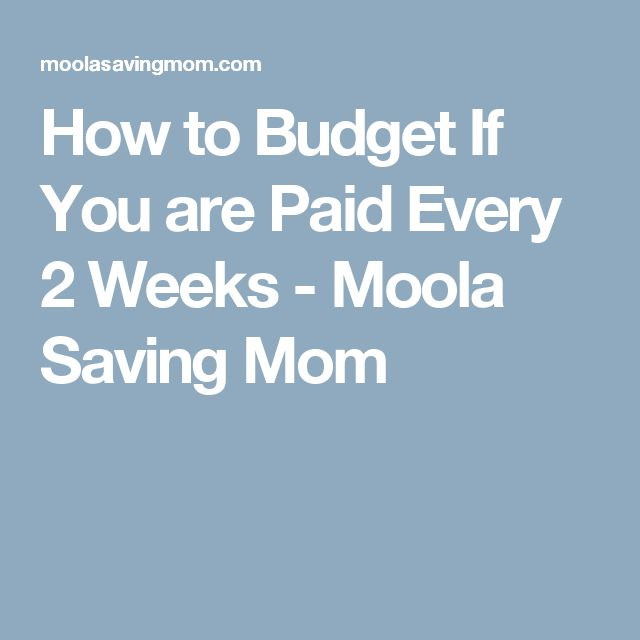 How to Budget If You are Paid Every 2 Weeks  - Moola Saving Mom