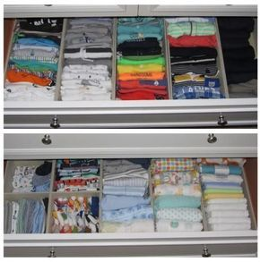 Tips on how to organize nursery for soon-to-be baby on the NEAT Method blog! Including how to organize the dresser drawers! #organize #nursery #baby #prep