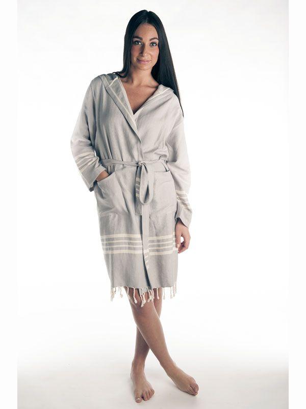 Szlafrok z tkaniny hamam, recznie tkany!