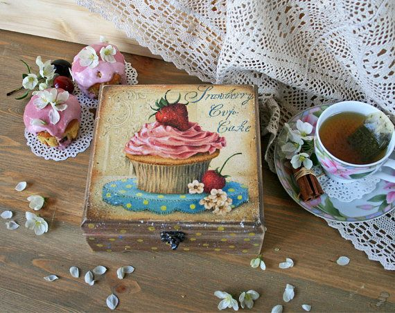 Tea bags box Wooden food box Tea Container Food от DecoDvorik