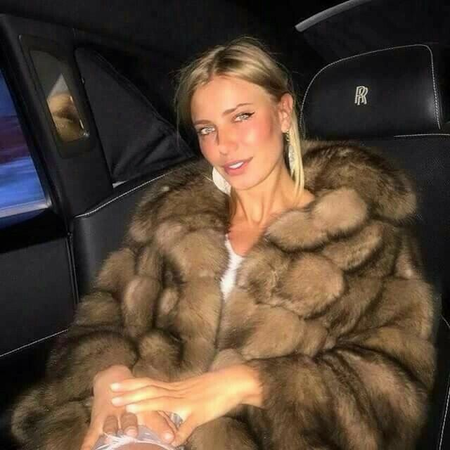 Wearing sable in the backseat of a Rolls Royce. Life of ...