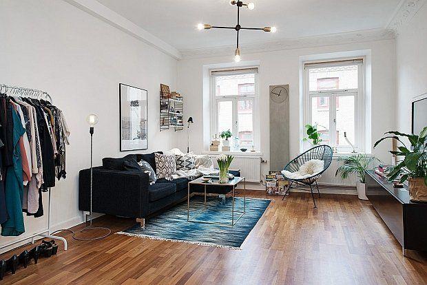 Design w domu: skandynawskie mieszkanie. Salon.