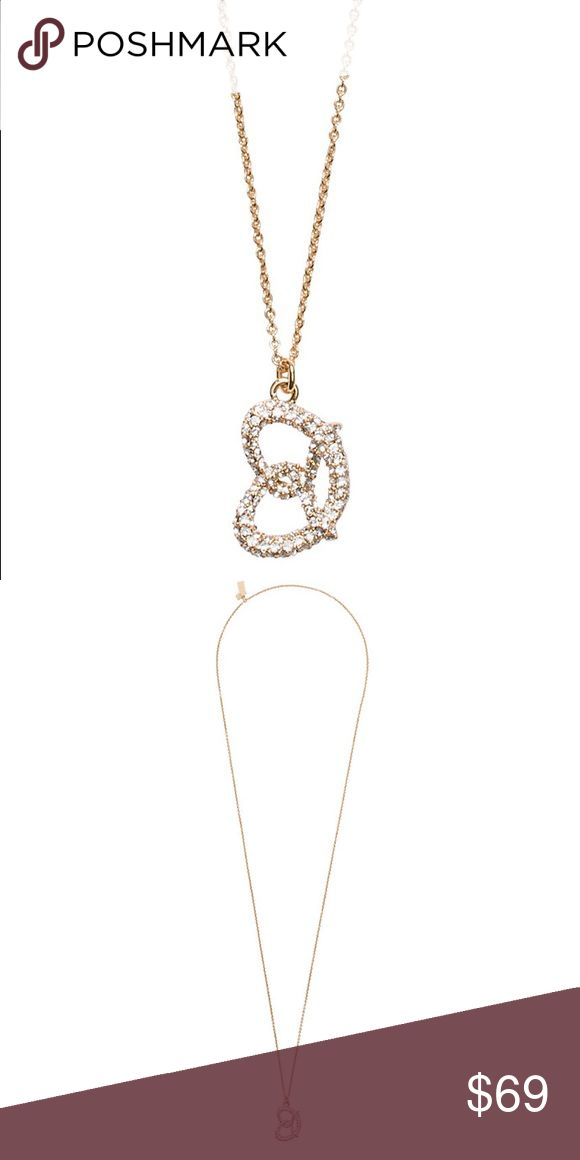 💜Kate Spade NYC Pretzel Pendant Brand New gorgeous NYC Pretzel pendant from Kate Spade with a 12 karat gold plated metal chain.  Glass stones. kate spade Jewelry Necklaces