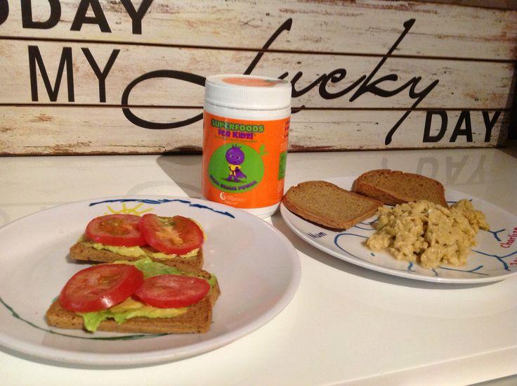 Add your Vital Veg to avocado & tomato on toast & scrambled eggs.